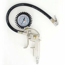 PISTOL GUN GRIP AIR TIRE INFLATOR WITH DIAL PRESSURE GAUGE 0-220 Psi
