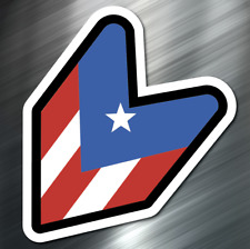 (1) Puerto Rico Wakaba car Sticker Auto Race Drift JDM Decal Boost Tuner Honda