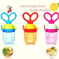 Baby Safe Feeding Tool Infant Pacifier Fresh Food Fruit Bite Nipple Teether - UK
