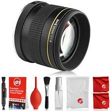 Opteka 85mm Lens for Canon 80D 77D 70D 60D 7D 6D 5D T7i T6i T6s T6 T5i T5 T3i T3