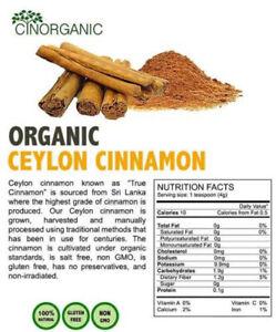 "Organic Ceylon Cinnamon Cinnamomum Verum ""True"" Cinnamon Powder"