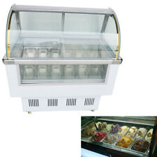 Floor Type 12 Pan Ice Cream Showcase with Led Light Gelato Refrigeration Machine