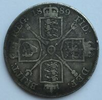 1889 Queen Victoria Double Florin coin - Free Postage