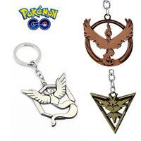 Sylish Accessories Pokemon Go Team Valor Mystic Instinct Keyrings Key Chain New