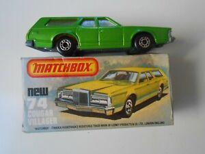 7 MATCHBOX ORIGINAL 74 COCHE MERCURY COUGAR VILLAGER 1/64 1:64 MODEL CAR ENGLAND