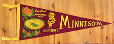 GORGEOUS/AUTHENTIC! 1961 ROSE BOWL FELT FOOTBALL PENNANT-MINNESOTA/WASHINGTON