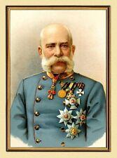 KAISER FRANZ JOSEF I. VON ÖSTERREICH ORDEN K&K XL-Faksimile 105 im Goldrahmen