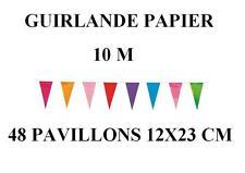 guirlande 48 Pointes multicolore fanions 11 x 22cm 10 m papier FETE DECORATION