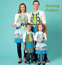 Kwik Sew Sewing Pattern K209 Adults & Kids Aprons