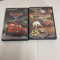 2 Game Lot Disney Pixar Cars + Mater National PlayStation 2 PS2 Game Free Ship