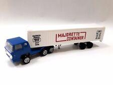 Vintage France Majorette Bernard M1/100 Toy Truck Car Tir Container Paris