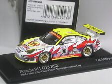 SUPER: Minichamps PORSCHE 911 gt3 RSR LE MANS 2004 #90 1:43 IN SCATOLA ORIGINALE