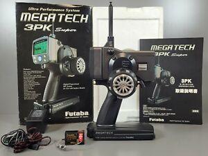 Futaba Mega Tech T3PK Super kit FM Synthesizer System PCM1024 Receiver Charger
