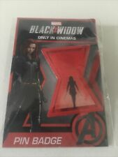 More details for marvel black widow rare promo pin badge , new sealed