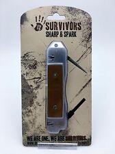 12 Survivors TWS76001 Sharp & Spark Fire Starter & Knife Sharpener Prepper Tool