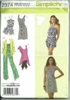 Simplicity Sewing Pattern 2374 Misses Jumpsuit Dress Top Cardigan Size 4-12