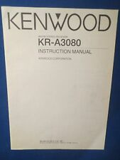 KENWOOD KR-A3080 RECEIVER OWNER INSTRUCTION MANUAL ORIGINAL FACTORY ISSUE
