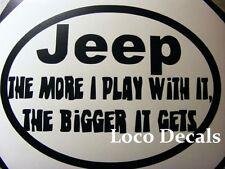 Jeep Decal CJ TJ YK JK XJ LJ WJ ZJ LJ  Vinyl Sticker Decal