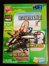 Block Tech Armed Forces Jet Fighter and Pilot Kids Toys New Free Ship