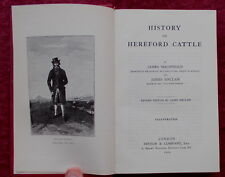 HISTORY OF HEREFORD CATTLE BY MACDONALD & SINCLAIR 1968 REPRINT