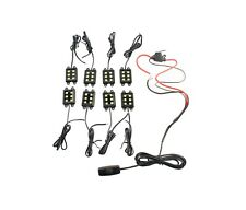 8pc  WHITE LED TRUCK AUXILIARY BED LIGHTING LIGHT KIT w ON/OFF SWITCH