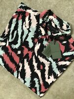 "ALL SAINTS BLACK ""SYNTH"" ANIMAL PRINT VISCOSE S/S SHIRT TOP - M XL XXL  NEW TAGS"