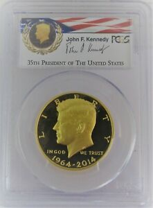 2014-W Kennedy 50th Anniversary Gold PCGS PR70DCAM First Strike 3/4 Ounce!