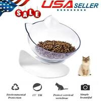 Single Non-slip Cat Bowls with Raised Stand Pet Cat Dog Feeder Food Water Bowl