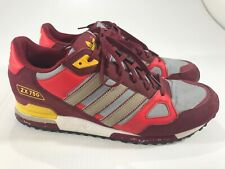 Adidas Men's Maroon Red Suede ZX750 Trainers Athletic Shoes Size 10.5
