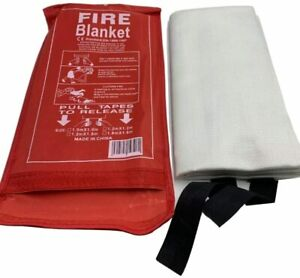 Fire Blanket Emergency Flame Retardant Shelter Safety Cover for Caravan, Kitchen
