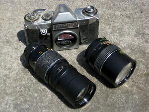 Praktica PL Nova 1 with two lenses