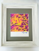 ANDY WARHOL ORIGINAL 1984 SIGNED CAMOUFLAGE MATTED TO BE FRAMED AT 11X14
