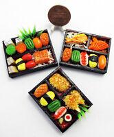 3 Mix Dollhouse miniature Sushi Bento ,Tiny Food,Japanese Food