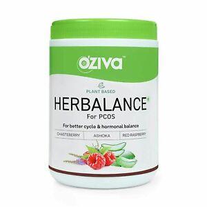 OZiva Plant Based HerBalance For PCOS Menstrual & Reproductive Health For Women