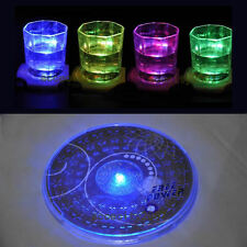 1PCS new Color Changing LED Lights Bottle Cup Mat Coaster For Clubs, Bars Party