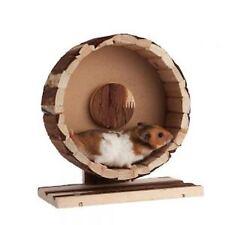 Pequeño Animal Natural rústico de madera hámster jerbo ratón rueda de ejercicio