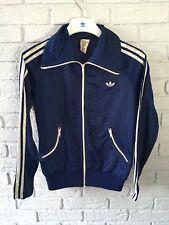Vintage Adidas Schwann Tracksuit Jacket Blue Size M/L 70s Rare Women's Indie