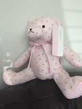 NEW MOTHERCARE FLORAL BEAR PINK TEDDY BEAR SOFT TOY ROSE FLOWER CUDDLY REBORN A5