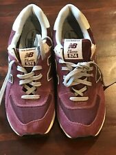 Men's Shoes NEW BALANCE 574 Classic Maroon Leather Size US 10 UK 9.5 Brand New