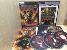 Doom 3 + Resurrection of Evil Expansion Pack PC Game x2