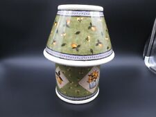 Carson Home Accents Candle Jar w/Lamp Shade Set by Mary Hughes Lemons & Flowers