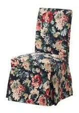 IKEA HENRIKSDAL Chair Cover Long White Lingbo Multicolor Floral BRAND NEW-