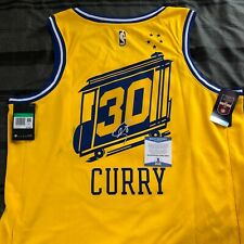 "STEPHEN CURRY SIGNED GOLDEN STATE WARRIORS AUTHENTIC JERSEY ""THE CITY"" AUTO COA!"