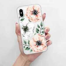 Flower Clear Soft Bumper Print Cover Case For Apple iPhone 8 7 6S Plus X Xs 5 SE