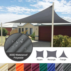 98% UV Block Outdoor Sun Shade Sail Patio Deck Pool Suncreen Awning Canopy Cover