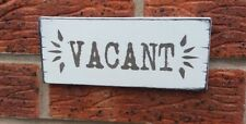 Vacant Wooden Plaque Side Toilet Hanging Shabby Vintage Chic Sign