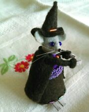 Miniature Felt Witch Mouse Doll Halloween Gift Dollhouse