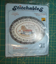 """The Best Thing is Time Stitchables Cross Stitch Kit Unopened Children 5"""" x 7"""""""