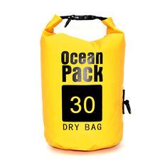 New Ocean Pack Dry Bag Water Proof Backpack Bag  River Beach 30L  X-Large YELLOW