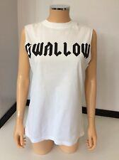 alexander mcqueen T Shirt Sleeveless Size XS Uk 6 Shallow White Top Vgc MCQ